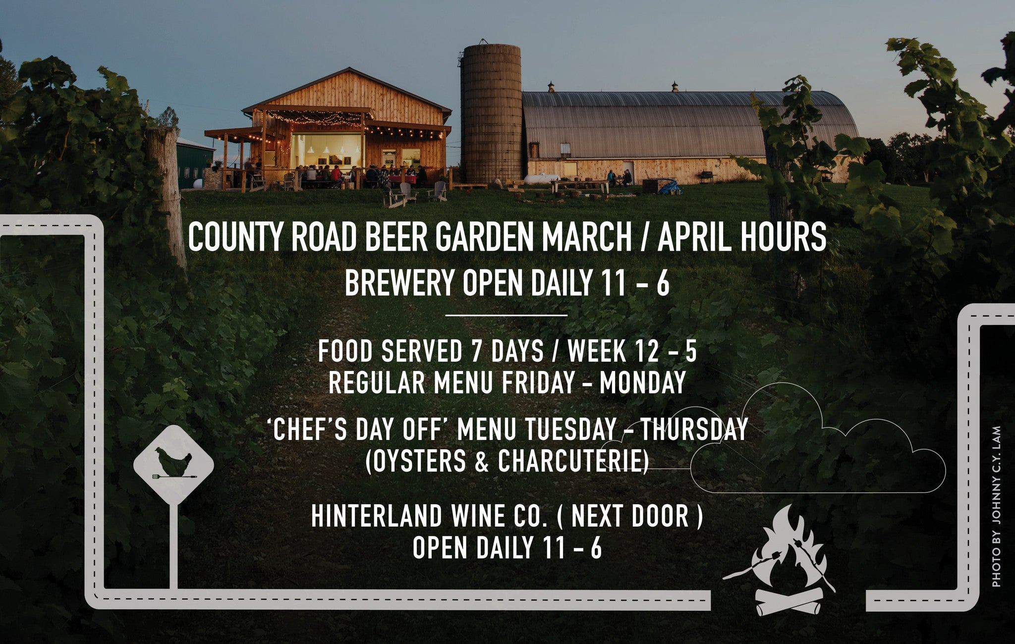 County Road Beer - March and April hours