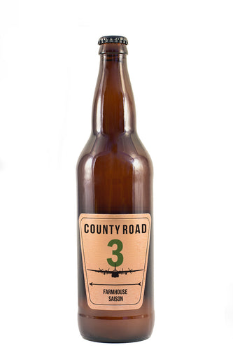 12 PACK OF COUNTY ROAD 3 FARMHOUSE SAISON