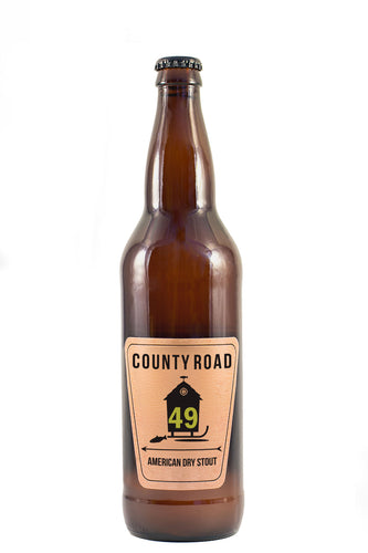12 PACK OF COUNTY ROAD BEER 49 DRY AMERICAN STOUT