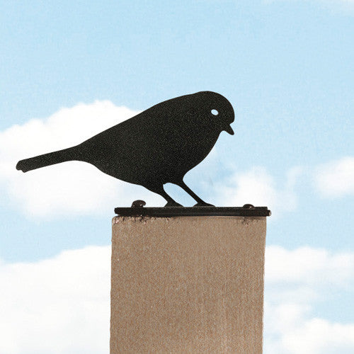 Steel Blue Tit Fence Post Finial
