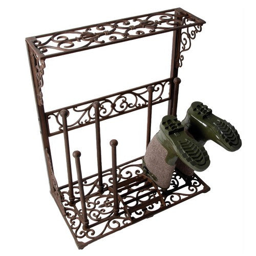 Large Cast Iron Boot Rack