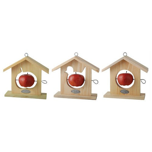 Wooden Apple Bird Feeder