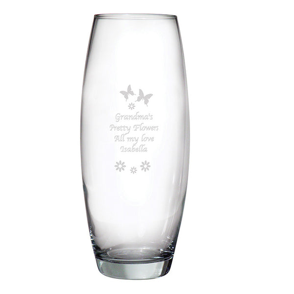 Personalised Glass Flowers Vase