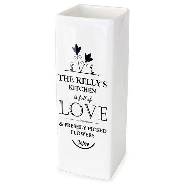 Personalised 'Full of Love' Vase