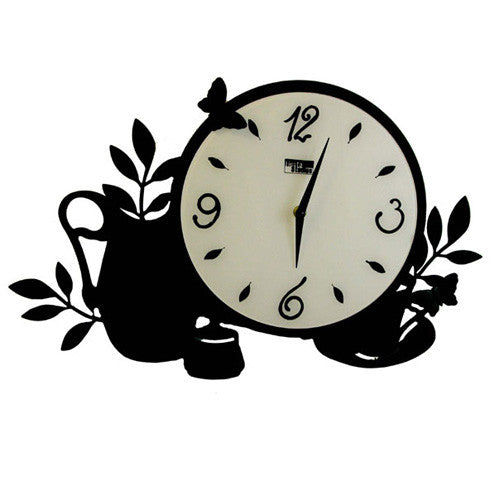 Plant Metal Wall Clock