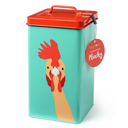 """Plucky"" Chicken Storage Tin"