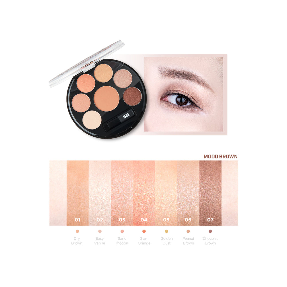 VTXBT21 Eyeshadow Palette (#01 Mood Brown)