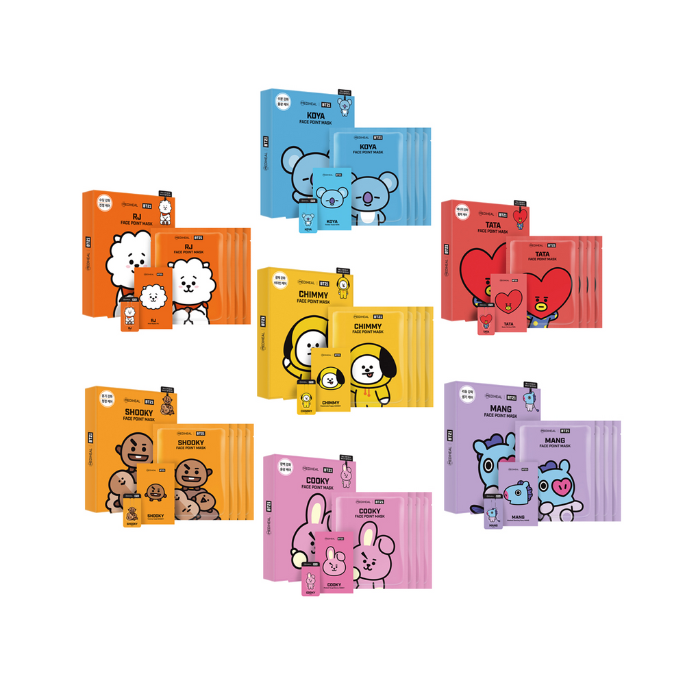BT21 BTS Face Point Mask Set
