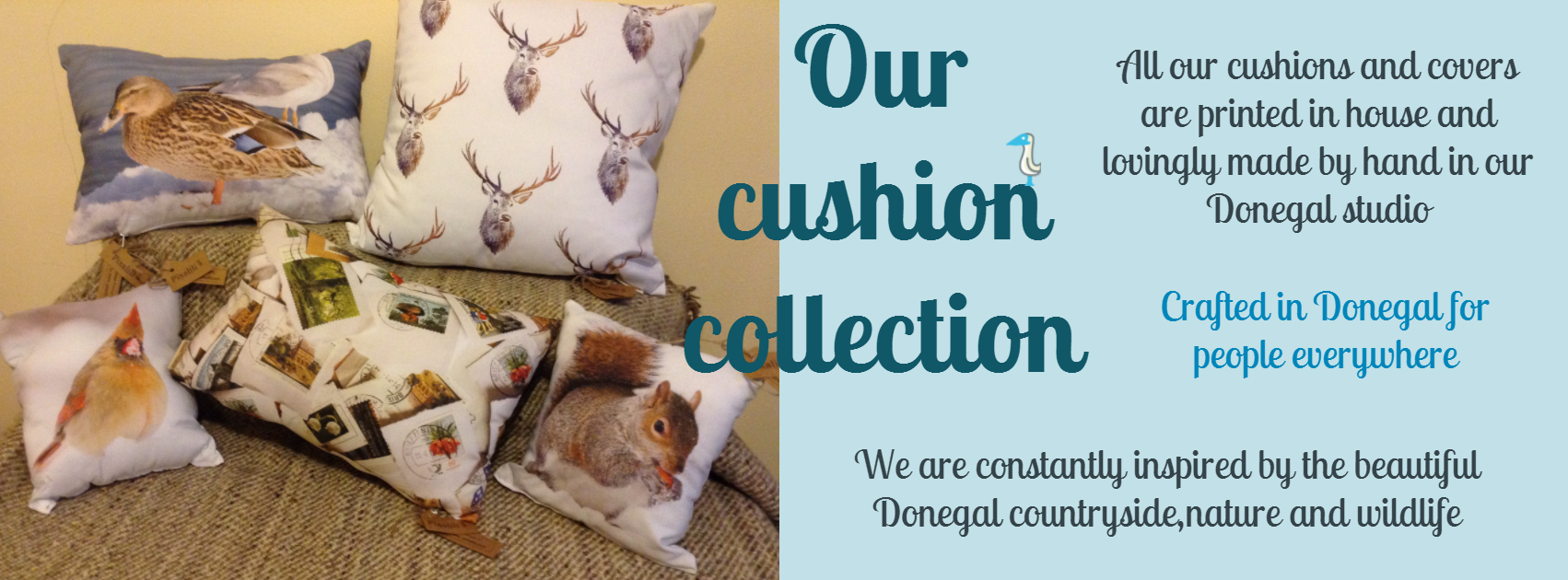 Cushions crafted in Donegal