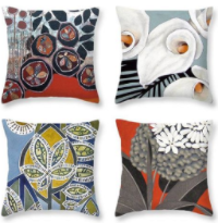 Art on cushions and pillows
