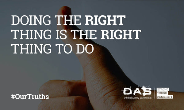 Do the right thing!