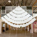 Large White Ribbon Parachute