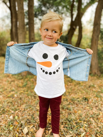 Long Sleeve Snowman Tee
