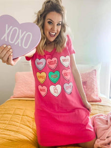 Conversation Heart Night-Tee