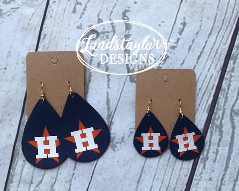 Astros Teardrop Earrings