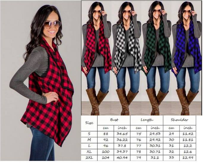 Buffalo Check Plaid Vests
