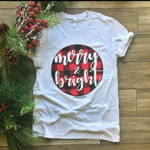 Merry & Bright Short Sleeve Shirt