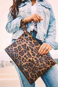 Madison Leopard Clutch