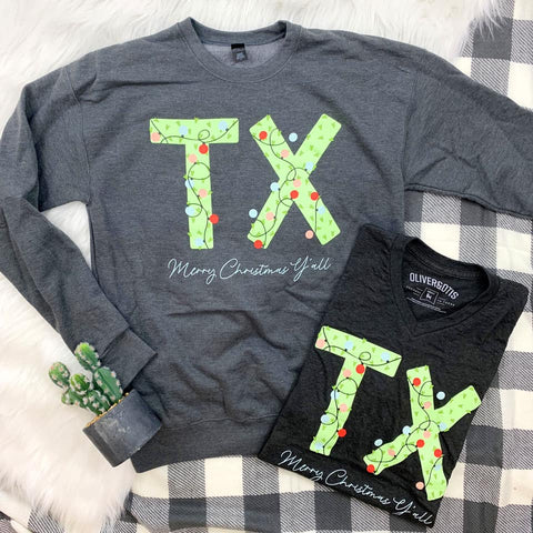 TX Christmas Sweatshirt