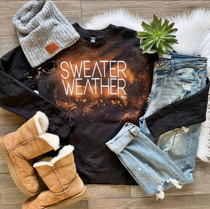 Bleached Sweater Weather Sweatshirt