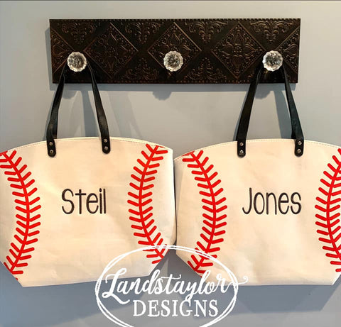 Personalized Baseball Totes