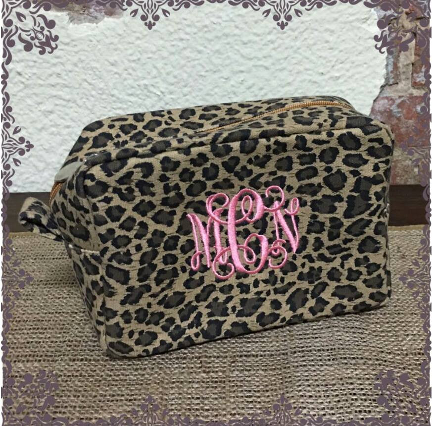 Leopard Cosmetic Bags
