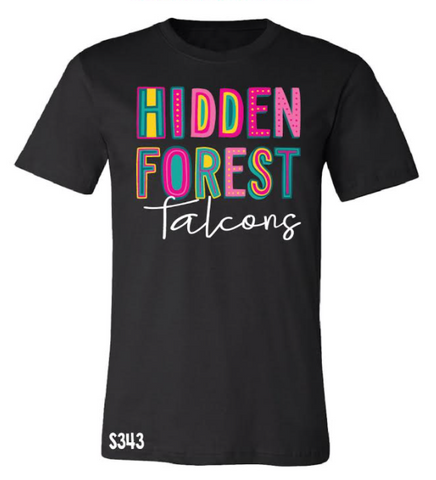 Hidden Forest Falcons Colorful Spirit Tee