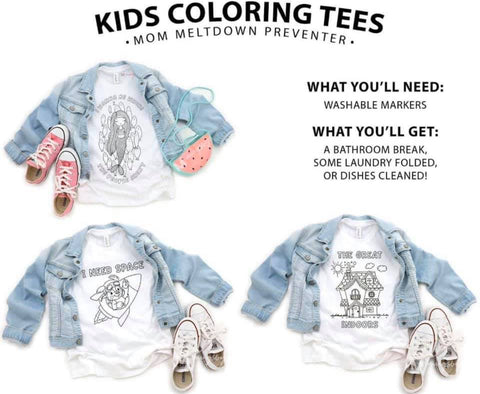 Youth Coloring Tee's