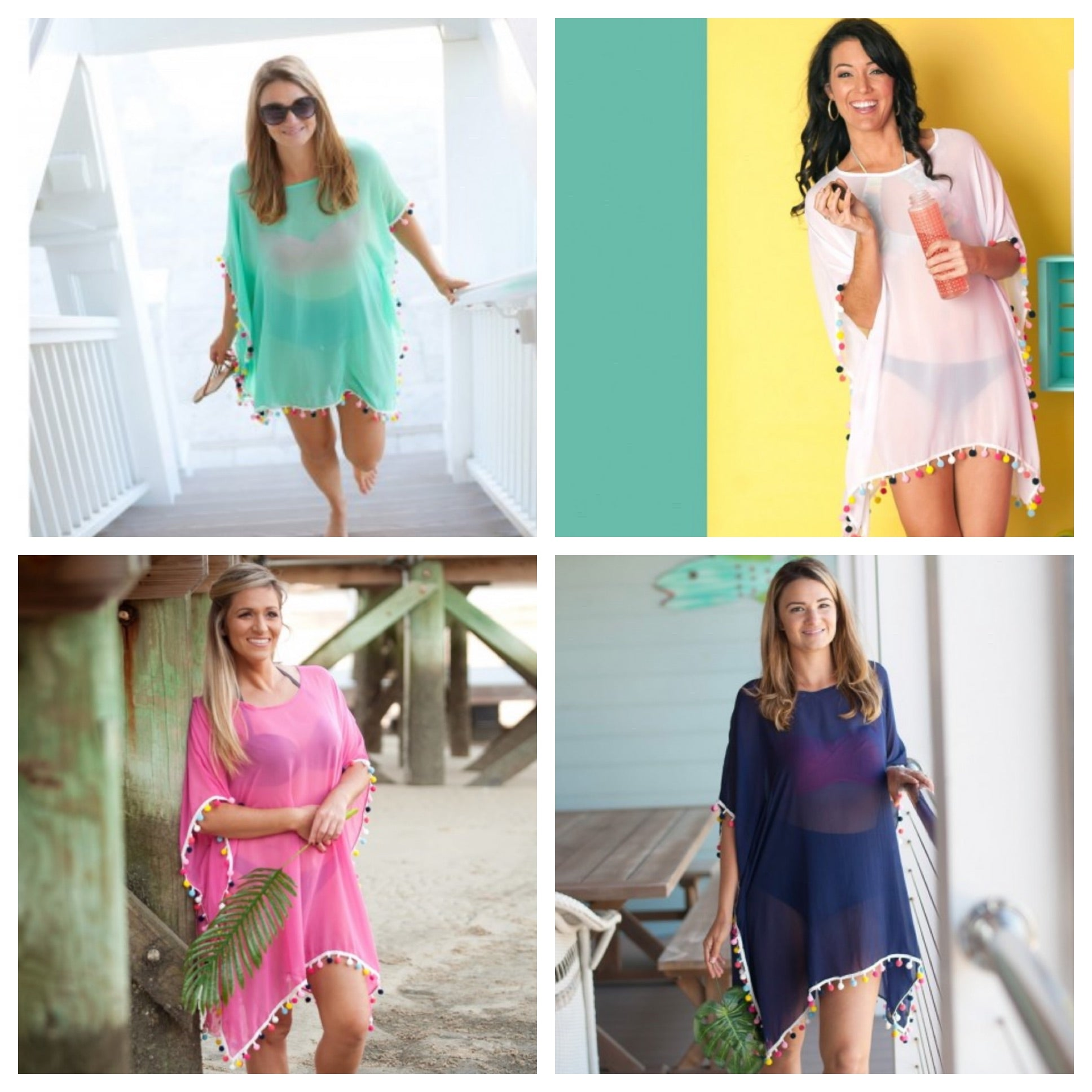 Multi-Color Pom Coverups