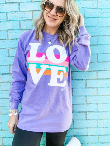 LOVE Stripes Long Sleeve