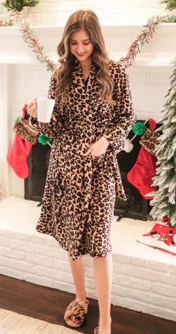 Leopard Fleece Robes