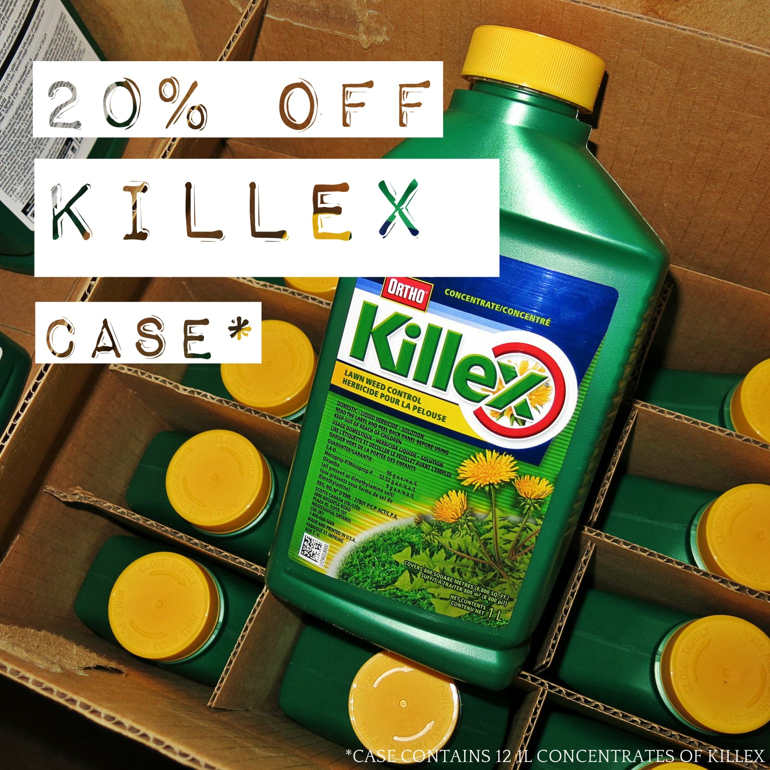 Buy Killex, WeedOut, 2,4-D, GrubOut, Roundup, SEVIN in Canada