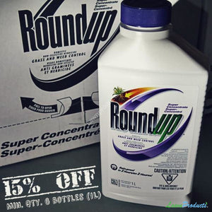 Round 1L Super Concentrate Half Case - 6 Bottles Of Roundup Non-Selective Herbicide