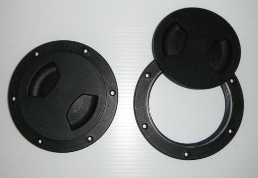 "4"" Black ABS Screw Out Deck Plate"