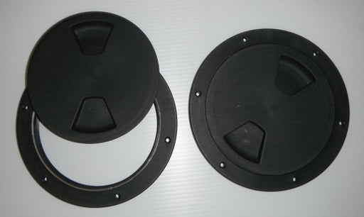 "6"" Black ABS Screw Out Deck Plate"