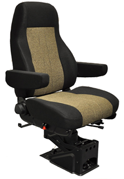 "National ""The Captain"" Air Ride Seat – High Back- Upholstered"