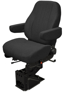 "National ""The Captain"" Air Ride Seat-Mid Back- Upholstered"