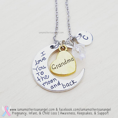 Grandma - I Love You To The Moon & Back Necklace