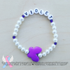 Personalized Howlite Butterfly Bracelet - Your choice of color!