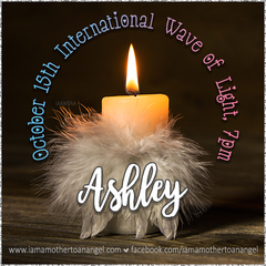 Digital Personalized Keepsake Graphic - Oct. 15th, Wave of Light Offer