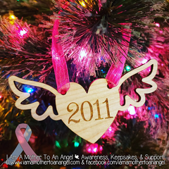 Wooden Memorial Ornaments - Personalized With Year