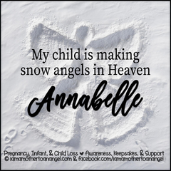 Digital Personalized Keepsake Graphic - Snow Angels In Heaven Offer