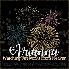 Digital Personalized Keepsake Graphic - Watching Fireworks In Heaven - New Years 2019