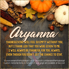 Digital Personalized Keepsake Graphic - Thanksgiving 2018