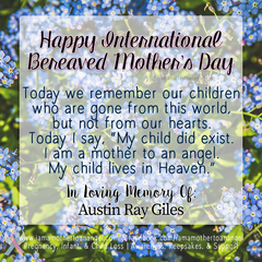 Digital Personalized Keepsake Graphic - International Bereaved Mother's Day 2020