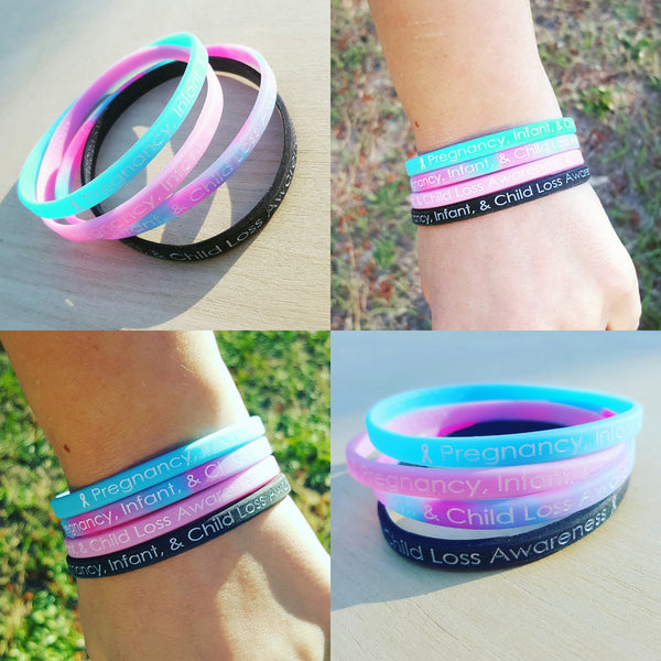 Pregnancy, Infant, & Child Loss Awareness Wristband