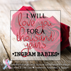 Digital Personalized Keepsake Graphic - Love You For A Thousand Years