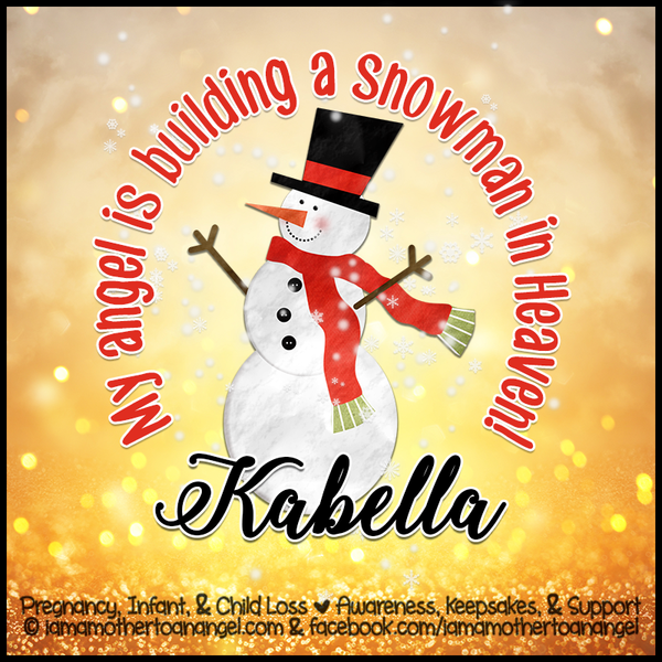 Digital Personalized Keepsake Graphic - Building A Snowman In Heaven