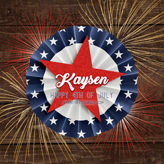 Digital Personalized Keepsake Graphic - Happy 4th of July 2018