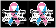 Remembering Our Angel(s) STICKER - Approx 3""